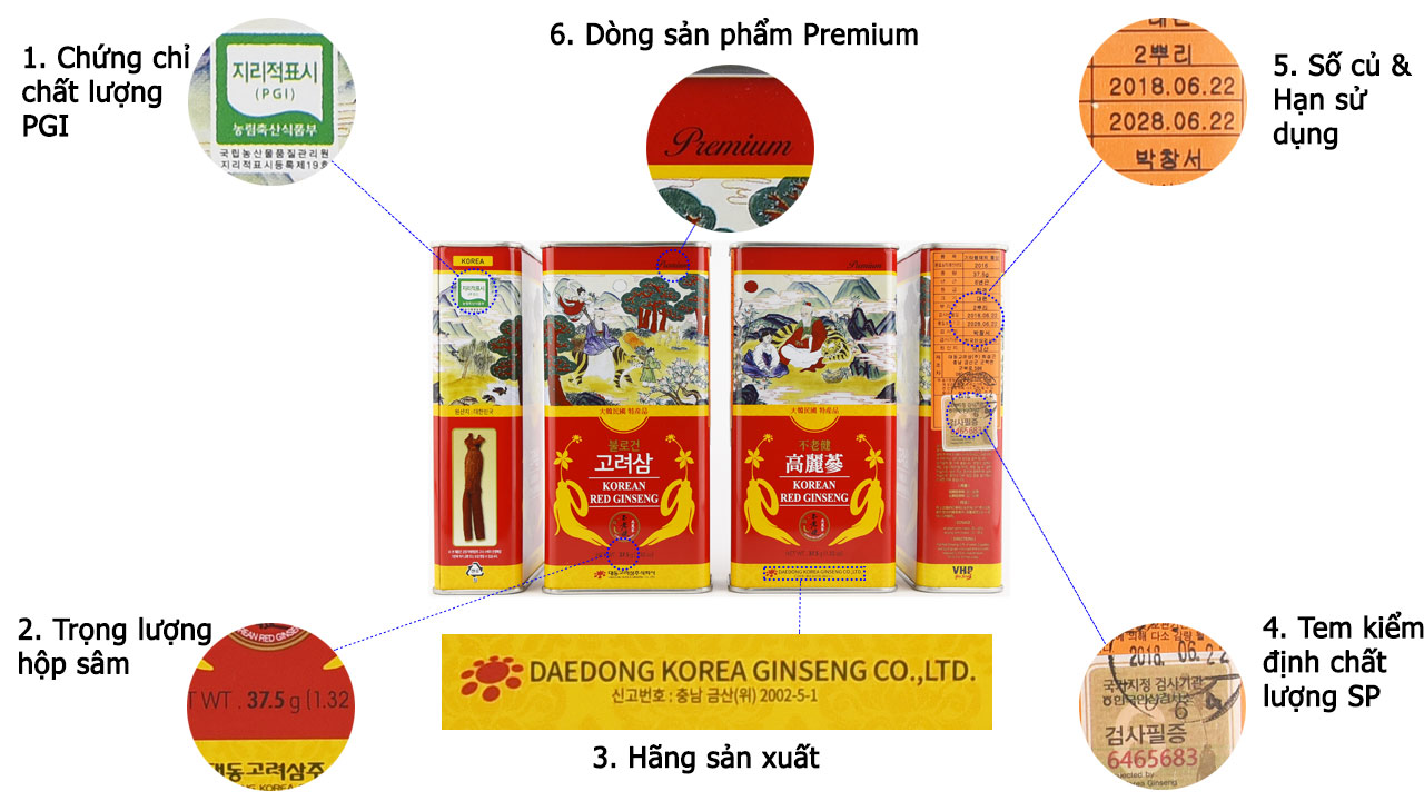 Hong sam cu kho daedong 37.5gr premium khong so 9