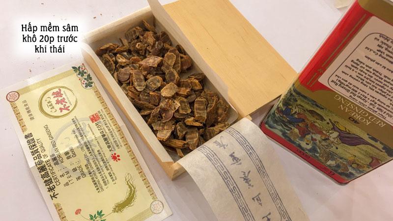 Sâm khô mật ong